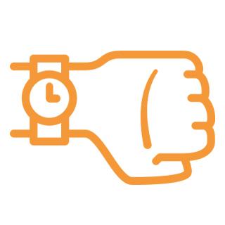 ikon hand med klocka