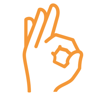 ikon hand ok