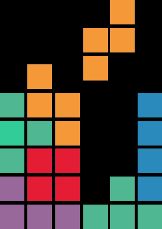 tetris i promates färger