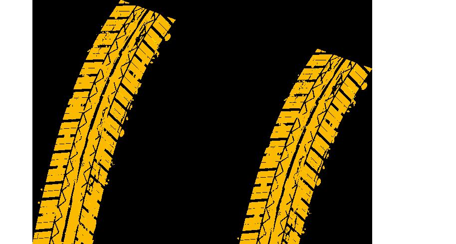 gula däckspår